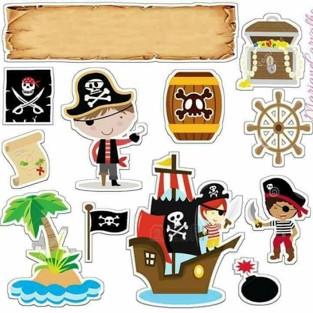Baby Pirate: Printable Cake Toppers.