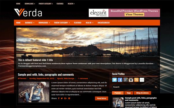 Verda Free Blogger Template