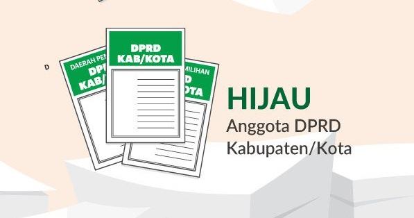 Warna Kertas Surat Suara DPRD Kabupaten/Kota