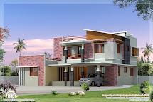 2300 Sq.feet Modern 4 Bedroom Villa Elevation - Kerala