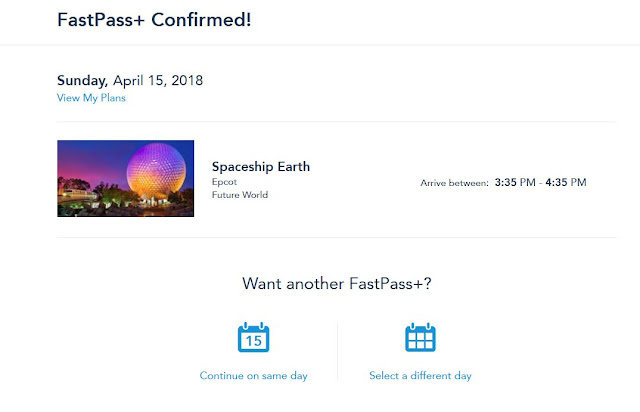 FastPass Website Walt Disney World Florida