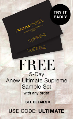 #Free Anew Ultimate Supreme Sample Pack of 5 with your order! Expires Midnight ET 8/25/16