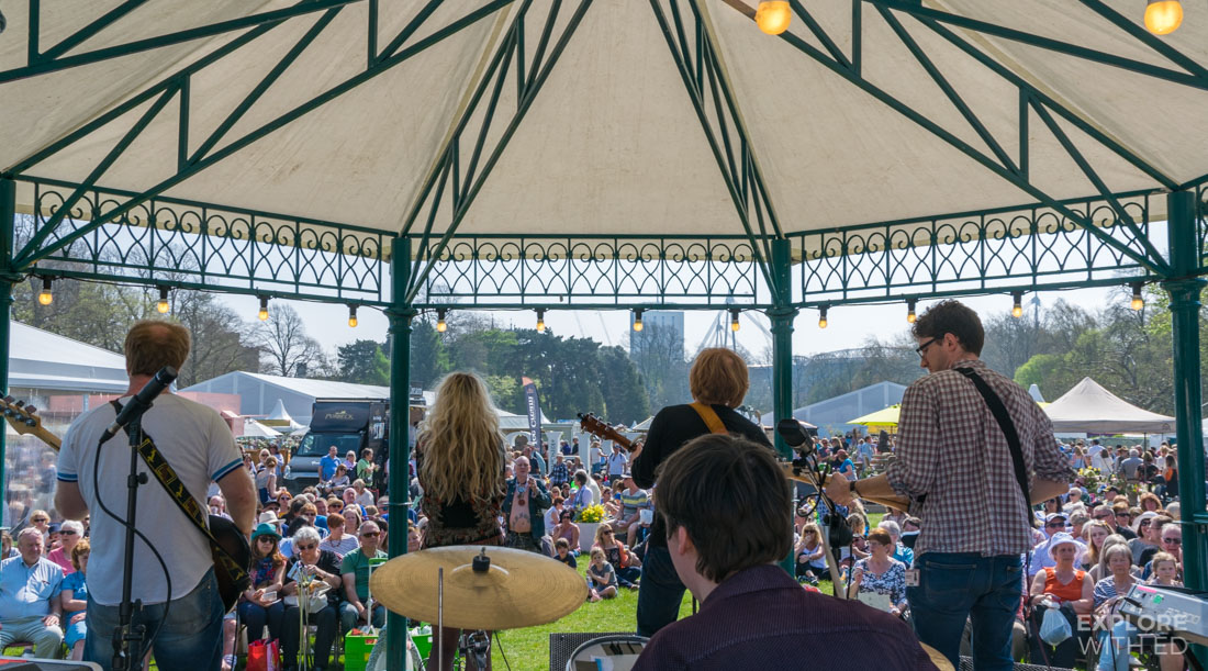 Bandstand in Bute Park during The RHS 2017 Show