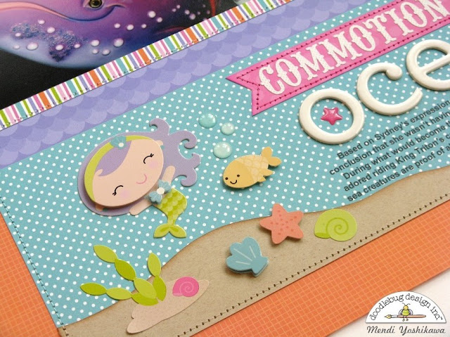Doodlebug Design Under The Sea 2-page Scrapbook Layout by Mendi Yoshikawa