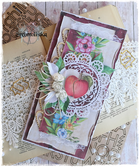 Kartka z jabłkiem