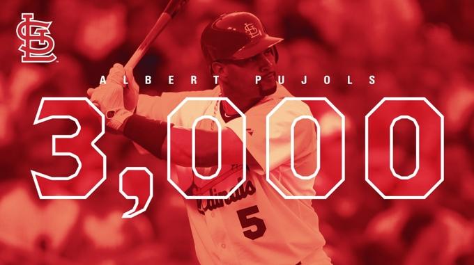 ¡Albert Pujols llega a 3,000 hits!
