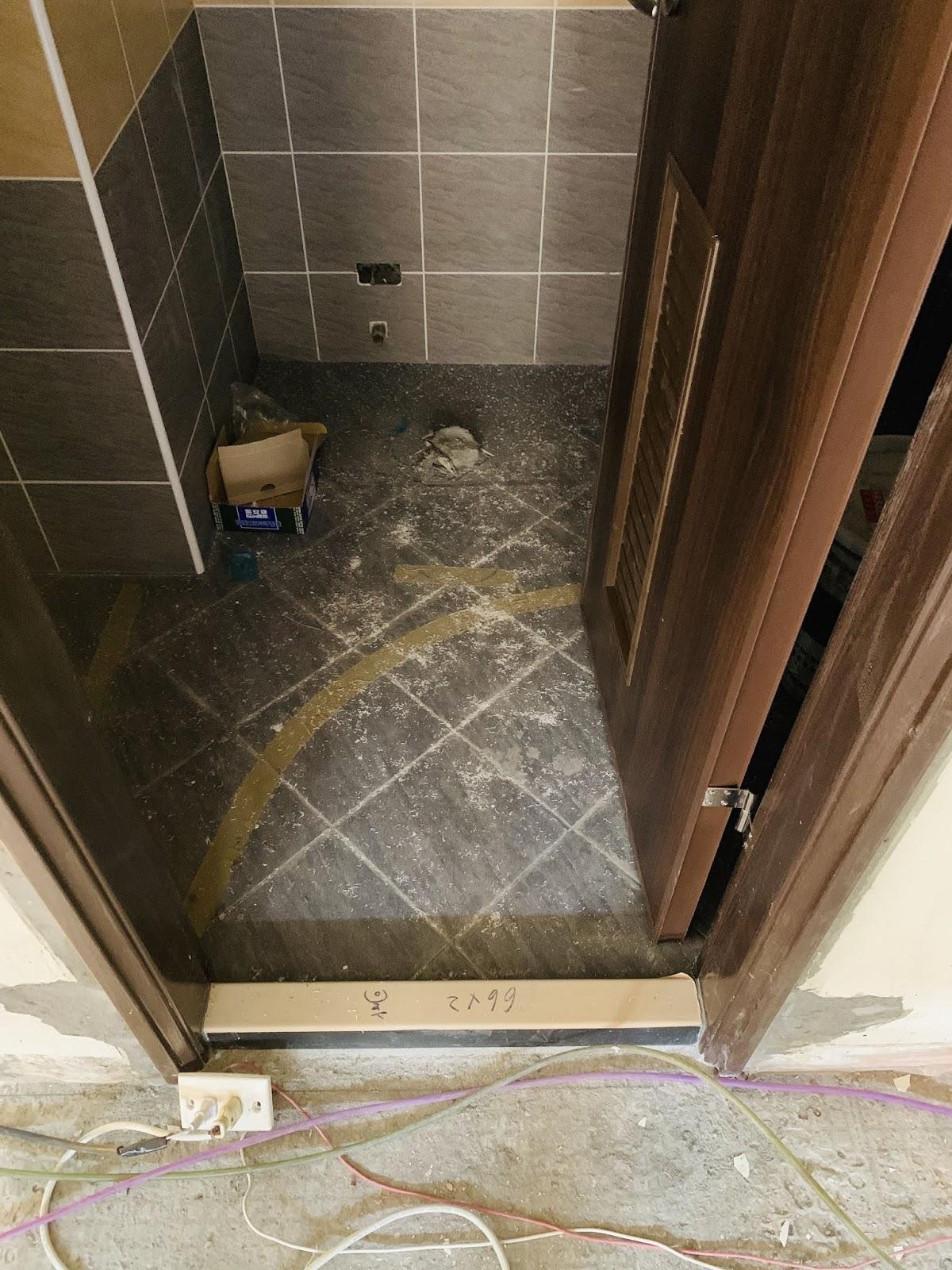 浴室門開啟角度