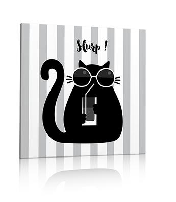 Tableau chat soda et lunettes