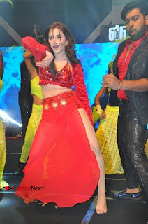 Telugu Actress Angela Krislinzki Spicy Dance Performance in Red Dress at Rogue Audio Launch 13 March 2017  0023.jpg