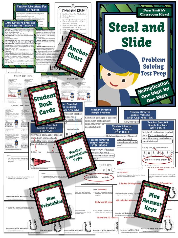 Test Prep Baseball's Steal and Slide Method - One By One Digit Multiplication