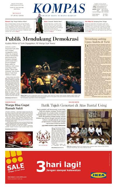 Kompas Edisi Minggu 17 Juli 2016