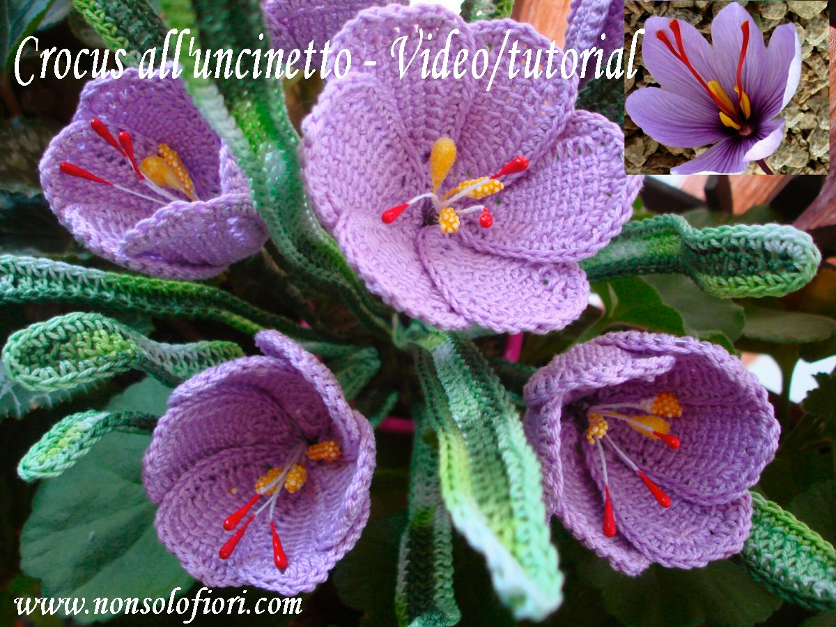 Floral Arrangements And Crocheted Flowers Fiori Alluncinetto E