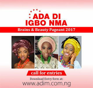 Audition forms for the inaugural edition of the Ada Igbo Nma Brains and Beauty Pageant schedule to hold in July