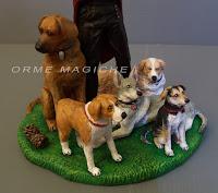 cake topper cani statuine personalizzate animali domestici orme magiche