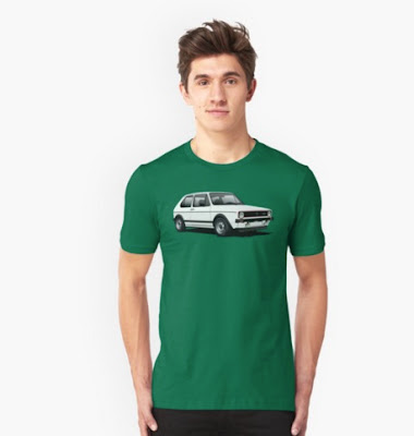 VW Golf GTI Mk1 t-paita t-shirt reddbubble