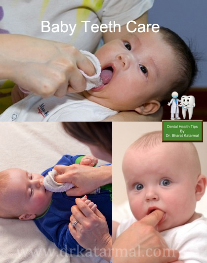 jamnagar dentist explaing how to take care of baby teeth