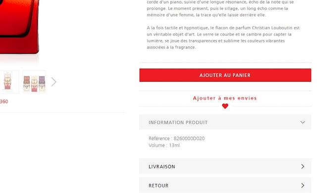 Eshop Christian Louboutin Parfums - Blog beauté Les Mousquetettes