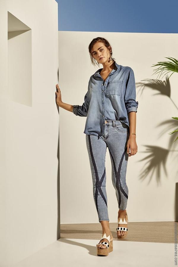 Moda primavera verano 2018 | Pantalones de jeans primavera verano 2018.
