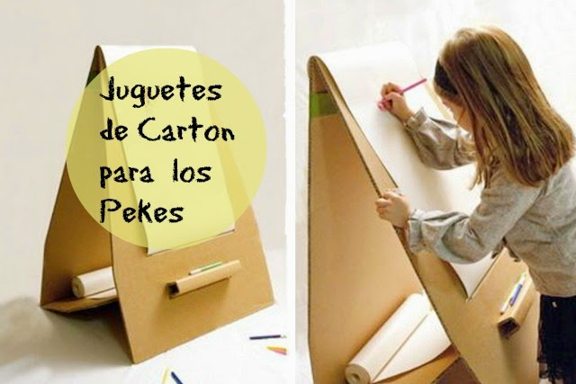 cartón, reciclar, juguetes, infantil, juegos, actividades, manualidades