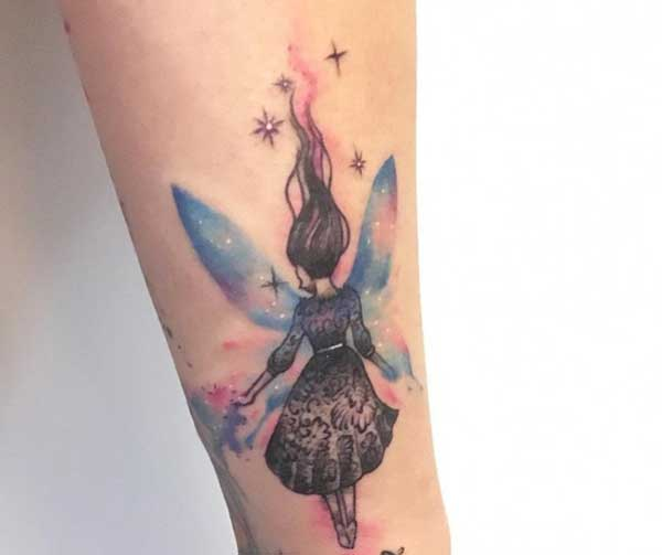 peri kızı melek dövmesi