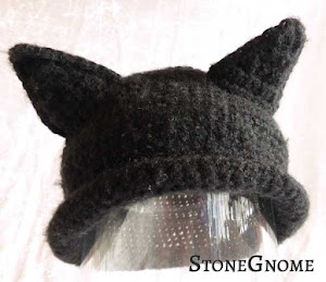 Make ears for your crocheted hat