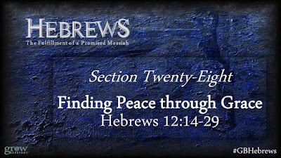 Finding Peace through Grace - Hebrews 12:14-29