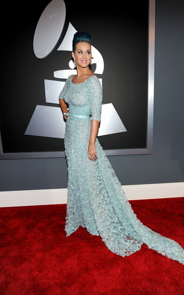 Fashion In Wedding Katy Perry Wearing Ellie Saab Elie