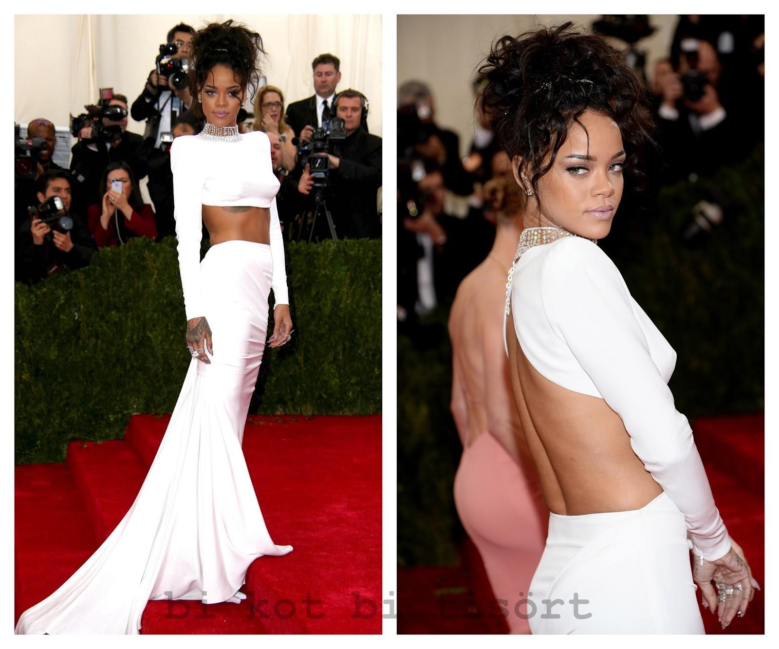 Rihanna'nın Kırmızı Halı Elbiseleri