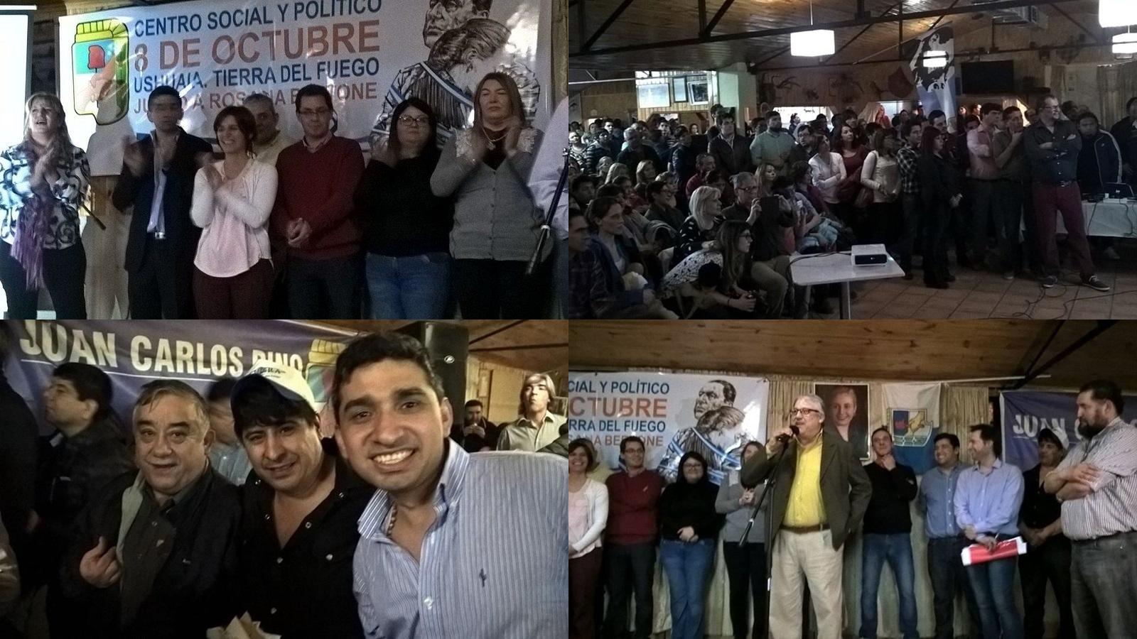 Acto del PJ en Ushuaia apuntaron a intendentes