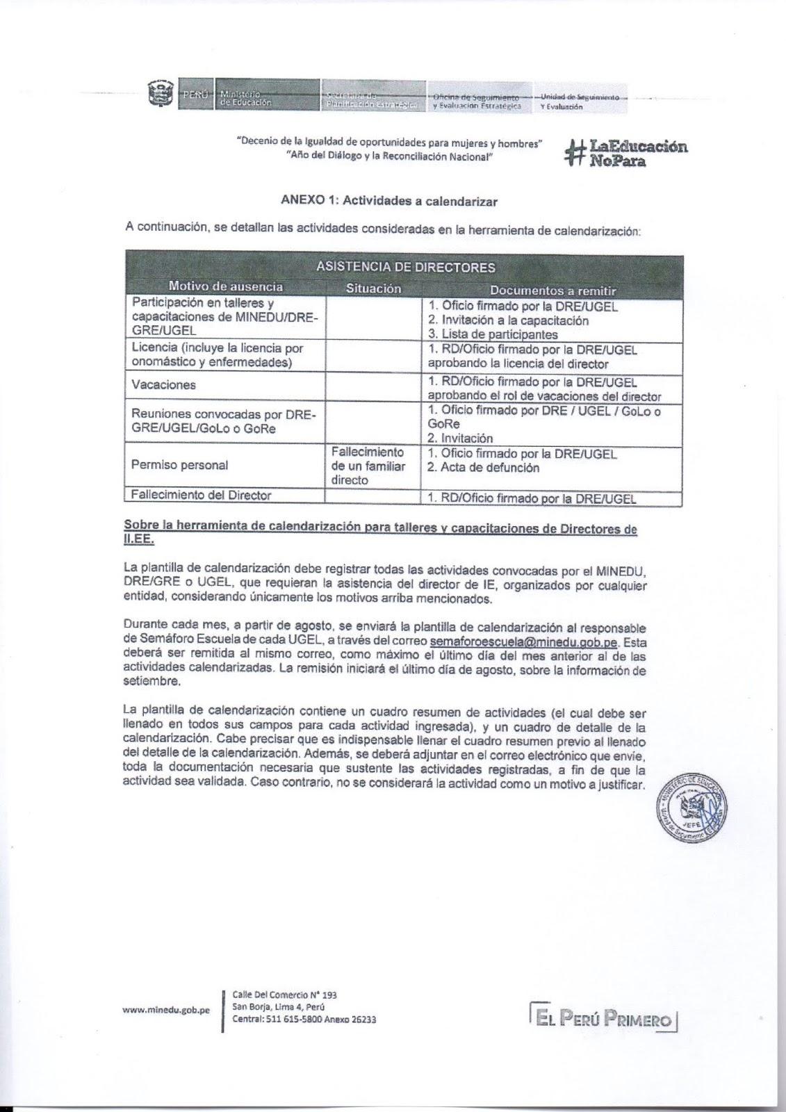 ATENCIÓN SEÑORES DIRECTORES: SEMÁFORO ESCUELA INDICADORES A