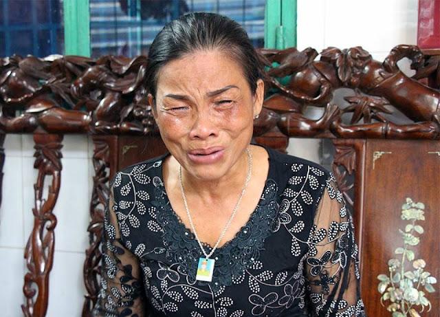 Bà Tươi khóc nức nở mỗi khi nhắc đến con trai