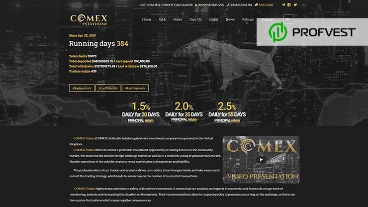 Небольшой отчет и новая локализация от Comex Trades
