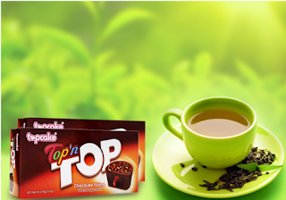 Ban xa hang banh nhan so co la dau vani Topn Top Topcake hop 210g