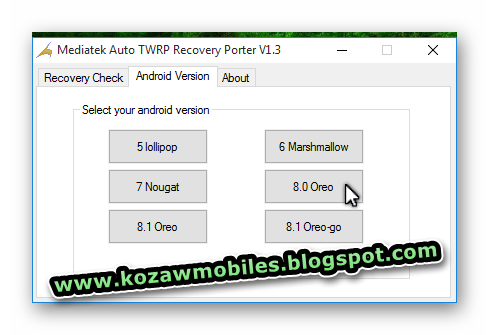 Mediatek Auto Twrp Recovery Porter V1 3 - KoZaw Mobile & IT