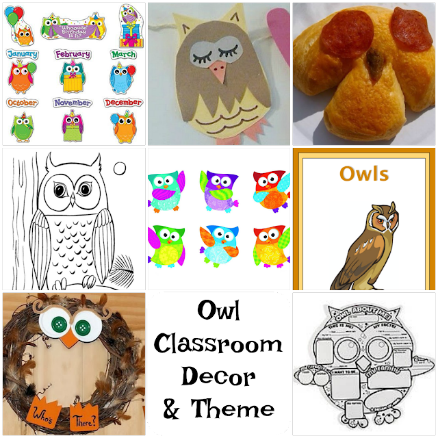 9 Owl Back to School Decorations Thematic Unit