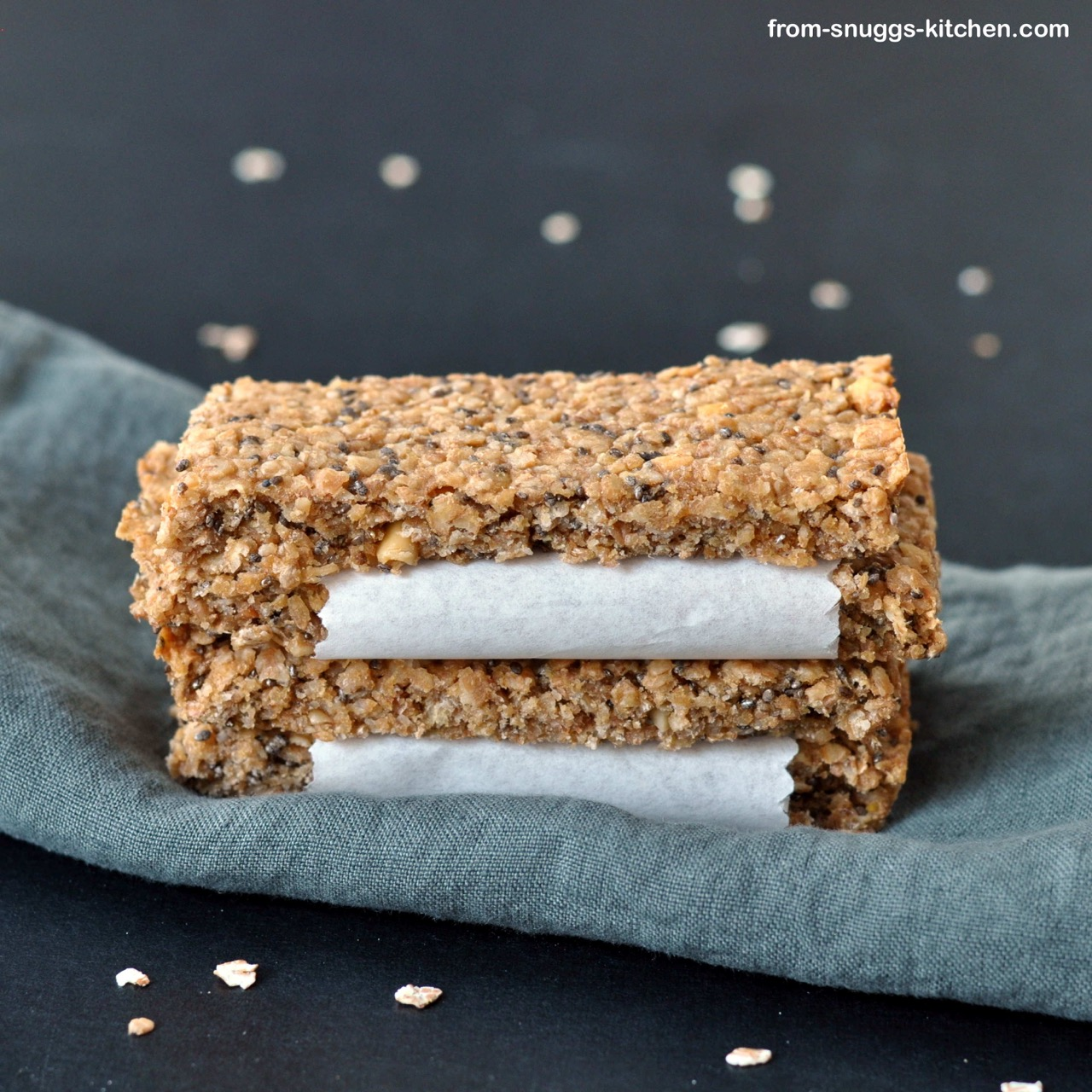 cereal bar with peanut butter and chia