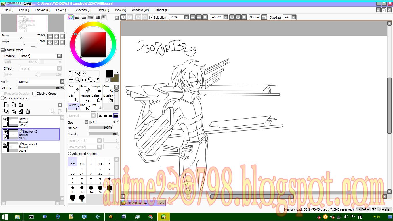 Cara Mewarnai Anime di Paint Tool Sai Mudah Untuk Pemula ...