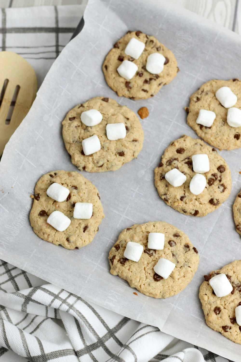 cookie with marshmallow