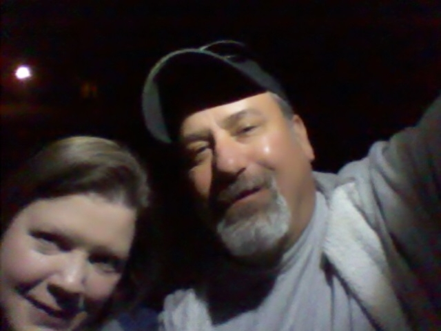 The hubby and myself have fun playing flashlight tag #Disneyside