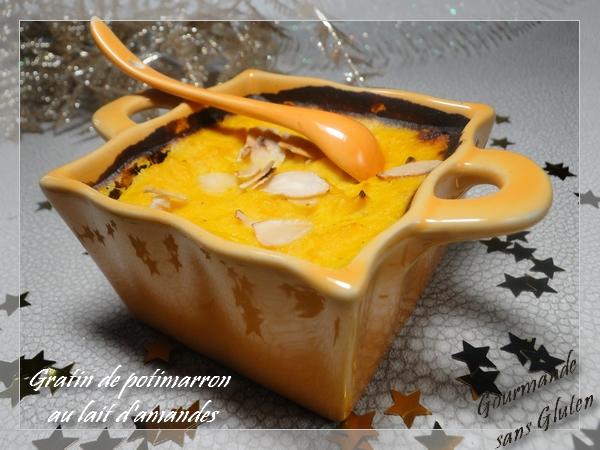 recette de gratin de potimarron au lait d'amandes