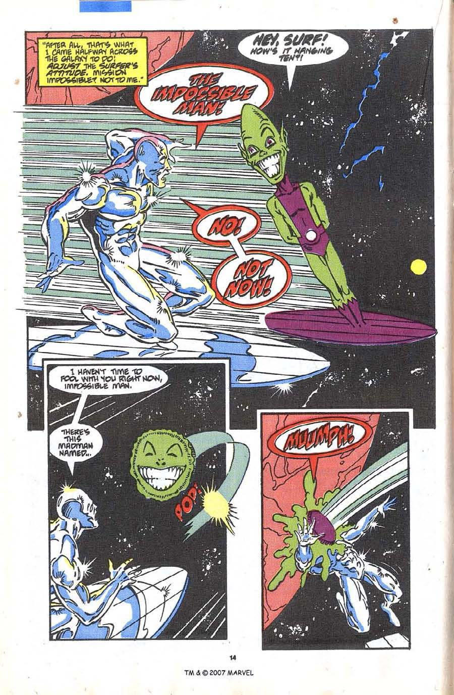 Read online Silver Surfer (1987) comic -  Issue #36 - 16