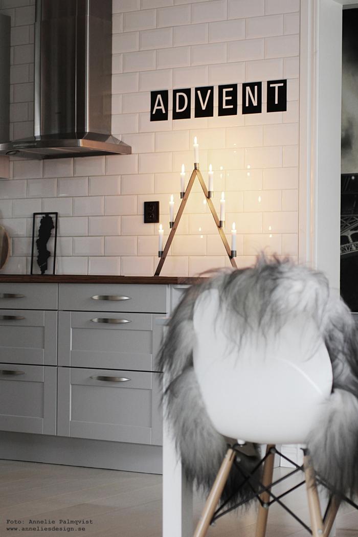 adventsljusstake, annelies design, kök, grafitgrå, bokstäver, vykort, advent, inredning, webbutik, webshop, nätbutik, inredningsbutik, varberg, fårskinn, isländskt,