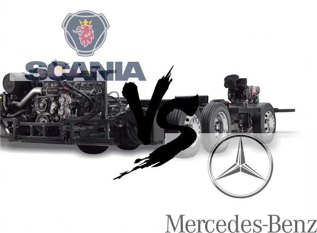 spesifikasi dan harga SCANIA K410ib dan MERCEDEZ BENZ OC 500 RF 2542