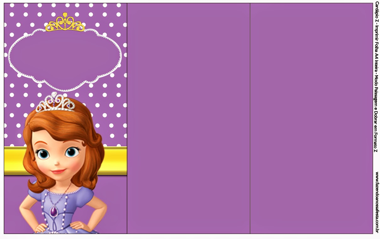 Sofia the First: Free Party Printables and Images. | Oh My Fiesta ...