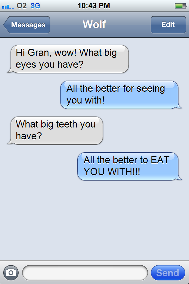 Teaching Direct Speech Punctuation using the iPhone text messaging!