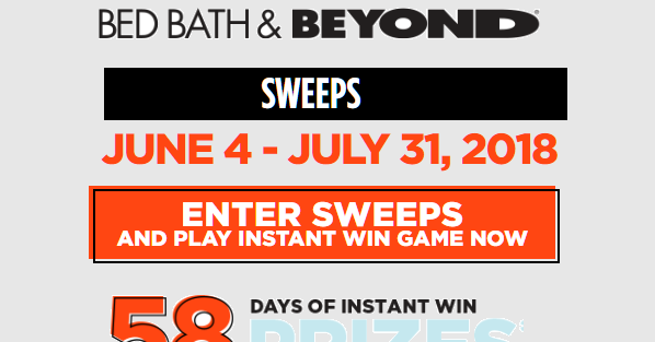 Bed Bath Amp Beyond Daily Instant Win Giveaway 59 Winners