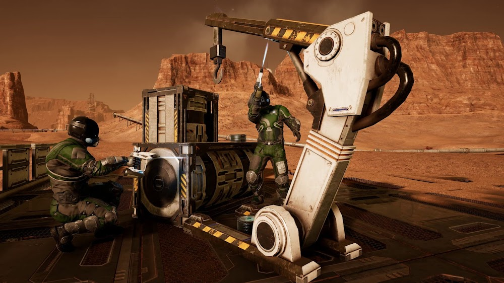 Memories of Mars game image - repairing equipment
