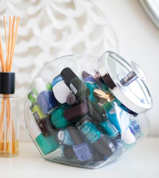 Botes de Cristal para guardar productos de belleza - Pintauñas