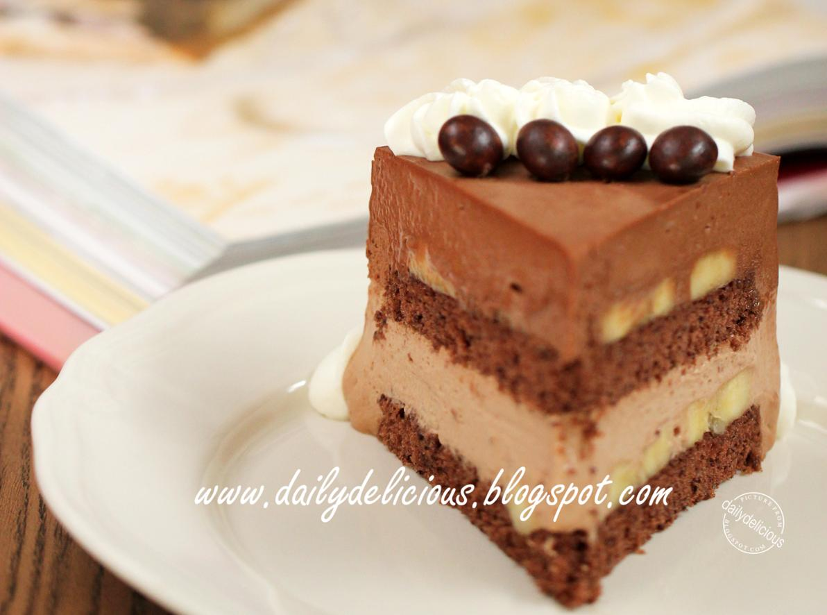 Dailydelicious Thai Chocolate Banana Mousse Cake Banana