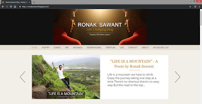 Bucket List - #41 Start a Blog - Ronak Sawant